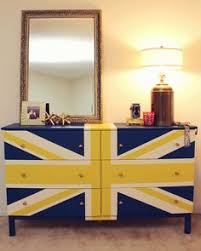 painted furniture union jack autumn vignette. Bringing Navy Blue Into Your Rooms With Furniture Painting | DIY Pinterest Benjamin Moore, Dresser And Painted Union Jack Autumn Vignette N