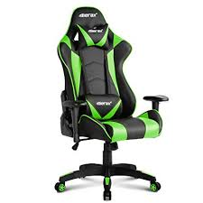 ergonomic computer chair amazon.  Amazon Merax Gaming Chair High Back Computer Ergonomic Design Racing  Green Throughout Amazon A