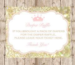 raffle sign princess diaper raffle sign instant download diy printable raffle