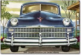 chrysler corporation postwar models 1946 1948 plymouth dodge chrysler grille