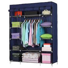 5 layer 12 grids portable closet storage organizer wardrobe clothes rack shelf