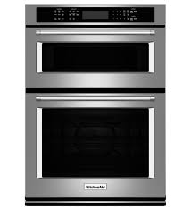 kitchenaid 27 combination wall oven with microwave even heat true convection koce507ess lower oven