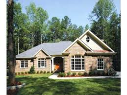brick home plans one story cottage house plans small brick home floor with porches style