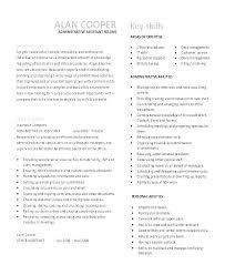 Admin Assistant Cv Template Chanceinc Co