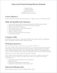 One Page Resume Example Stunning Sample Career Objective For Working Student Examples Resume Finance