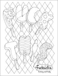 Swear Word Coloring Pages Printable Free Book Page By Books Adult