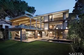 modern home architecture stone. Concrete And Stone Modern Facade Home Architecture