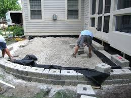 how to build paver patio fabulous raised stone patio ideas raised patio home design diy circular how to build paver patio