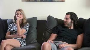 Girl masturbates while couple fuck full