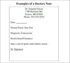 Free Doctors Note For Work Doctors Note Template For School Free Doctor Work Demarrer Info