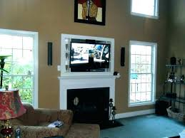 over fireplace too high above mounting large size of wall tv ideas mantle cable box