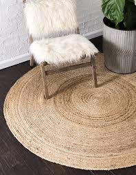 natural 8 x 8 braided jute round rug