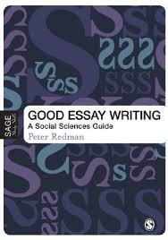 good essay writing a social sciences guide by peter redman 1006336