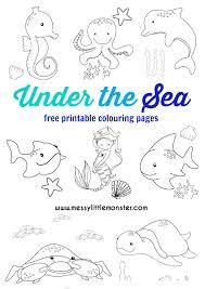 1100x1000 free coloring pages printable pictures to color kids drawing ideas. Under The Sea Colouring Pages Messy Little Monster