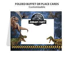 Jurassic Park Invitations Artfire Markets