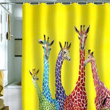 giraffe shower curtain animal print shower curtain bathroom furniture giraffe shower curtain rings giraffe riding