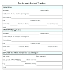 Temporary Employment Contract Template Temporary Work Contract Template