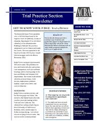 acba trial practice section spring newsletter by alameda acba trial practice section spring 2015 newsletter by alameda county bar association issuu
