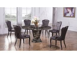 marble top round dining set