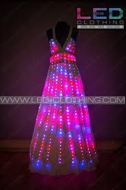Micro Led Lights Clothing Digital Pixel Aurora Led Dress With Wireless Control