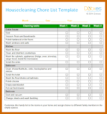 Family Chore Chart Template Fresh Housework Roster Template Chore