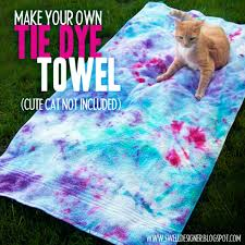 diy tie dye projects and crafts tie dye towel cool tie dye ideas for