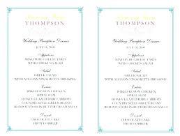 Wedding Bar Menu Templates Free Free Printable Drink Menu Template