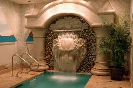 an indoor water fountain