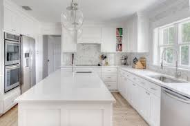 this beautiful kitchen remodel seen at cute co uses cambria manufactured quartz in a