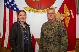 Kristen Johnson, military legislative assistant to Senator Tom Cotton of  Arkansas, observes an M777 Howitzer from 2nd Battalion, 10th Marine  Regiment, 2nd Marine Division, at Camp Lejeune, N.C., Nov. 26, 2018. Johnson