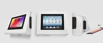 main banner armodilo keyo secure tablet ipad kiosk for wall mount and desktop in