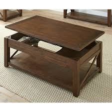 mocha brown lift top coffee table