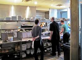busy restaurant kitchen. Luxe: Bright And Busy Kitchen Restaurant O