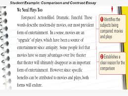 comparison and contrast essays ppt  10 student example comparison and contrast essay