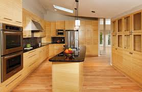 Kitchen Cabinets With Bamboo Flooring