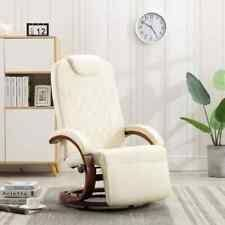 vidaXL <b>TV Recliner</b> Cream <b>Faux Leather TV Recliner</b> Set Padded ...