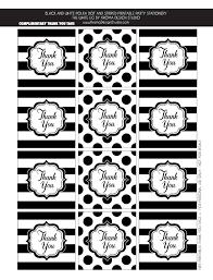 Thank You Black And White Printable Free Thank You Tags Black And White Party Ideas Kate