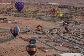 beautiful hot air balloons grace the sky over mesquite nevada january 23 2016