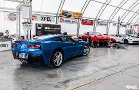 corvette funfest 2017 at mid america motorworks with clear auto bra
