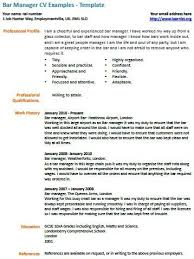 bar manager job description resume examples bar manager cv example learning sample resume resume resume
