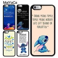 Ohana Means Family Quote Classy MaiYaCa Lilo And Stitch Ohana Means Family Quote Soft TPU Mobile