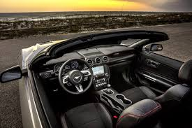 ford mustang convertible interior. Interesting Convertible Top Down View Of The Front Interior A 2019 Ford Mustang Convertible Inside Convertible Interior O