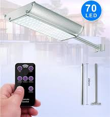 2019 5 mode solar lights outdoor radar motion sensor and remote control 70led 1100lm aluminum shell security lighting for porch garage from sunwaylighting