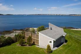 Spacious Waters Edge Deck With This Bailey Island Maine Rental