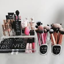 make up makeup brushes nars cosmetics home accessory beauty organizer