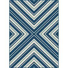 8 x 10 large navy blue indoor outdoor rug garden city rc willey furniture