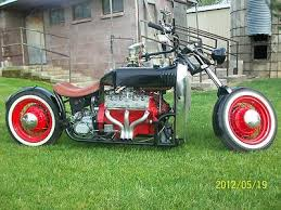 bobber custom ford v8 old school hot rod motorcycle for sale