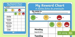 Editable Reward Chart New Editable Reward Chart Activity Sheet English