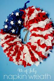 patriotic wreaths for front door4th of July Napkin Wreath  Delicate Construction