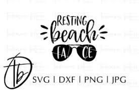 Suitable for apparel, scrapbooks, decals, and many other creative uses. Resting Beach Face Svg So Fontsy